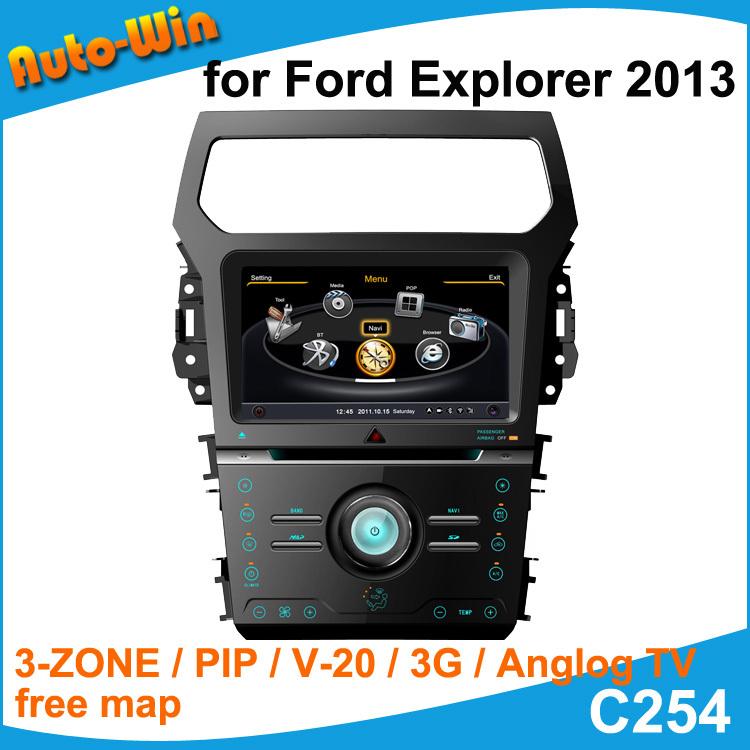 "S100 9"" Car DVD GPS for Ford Explorer 2013 Car Audio Navigation Player with Radio GPS DVD iPod USB SD V-20 3G(China (Mainland))"