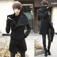 Men's clothing british style Men overcoat male slim medium-long plus velvet woolen coat men's thickening outerwear