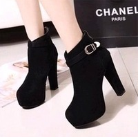 2013 Fashion Hasp High-heeled Platform Thick Heel Lacing Martin Boots Women's Ankle Boots Office lady's Boots Free Shipping