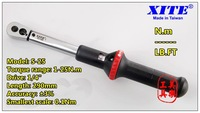 XITE torque wrench precision 3% show -window 1/4 1-25NM  Ratchet wrench