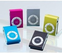 Mini clip card MP3 metal screen memory card clip MP3 player play supernova sale mp3 speakers Box+cable+headphones free shipping