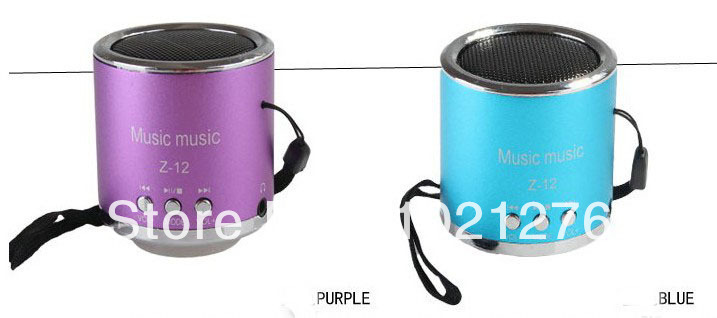 wholesale mini portable speaker support TF card and U flash disk with FM music player Portable audio player speaker(China (Mainland))