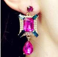 High Quality 2014 New Fashion classic style water rhinestone Crystal drop earrings for women E-105