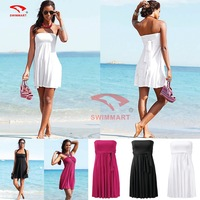 2014 summer beach dresses changed strapless beach dress with a variety of tees in fashion poly thoracic women's seaside skirt