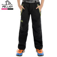 Free Shipping Pelliot outdoor child outdoor soft shell trousers casual waterproof windproof soft shell pants