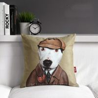 "Sherlock Holmes Creative Grey Sofa Plush Cushion Throw Pillows, Bedroom or Office Cute Cartoon Star Cushion 17""*17"" (only cover)"