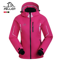 winter dress Pelliot female outdoor ski suit thermal clothing waterproof free breathing professional hiking cottonpadded jacket