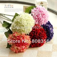 Europe Style 6P 50cm Length Artificial Flowers Simulation Hydrangea Bush for Wedding Bridal Bouquet Centerpieces Home Decoration