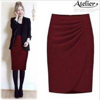 Fashion woolen 2013 slim hip bust skirt medium skirt ol professional skirt female tailored skirt