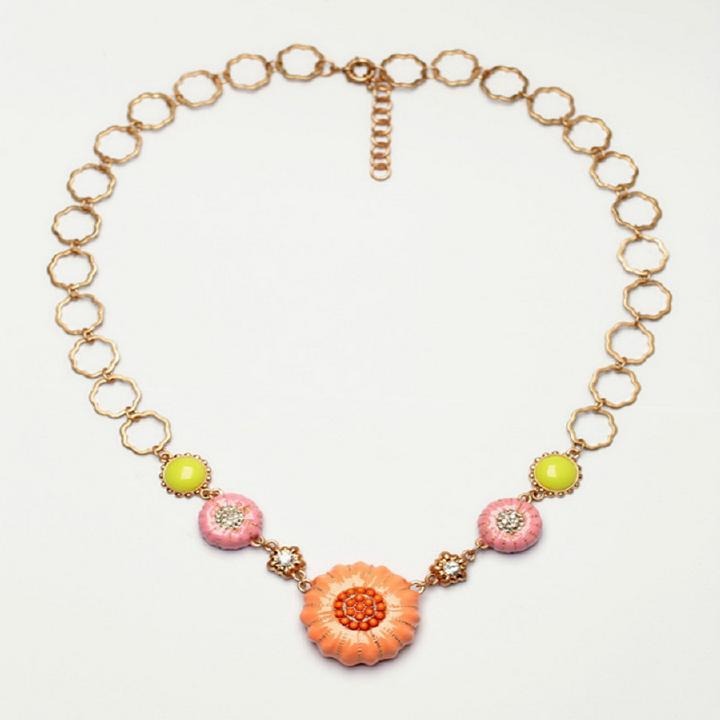 Newest fashion jewel sweet colorful pumpkin luxury bib necklace special gift(China (Mainland))