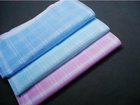 9pcs/lots cheap plaid handkerchief women hanky pocket square cotton  28*28cm 3 colors fresh Plain handkerchief