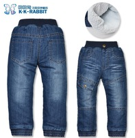 High quality 1 pcs KK-RABBIT brand thick cashmere fashion winter Boys kids trousers baby children pants