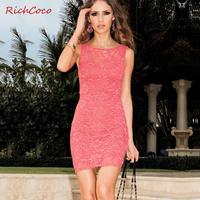 Fashion star elegant fashion sexy tube top slim hip racerback lace sleeveless one-piece dress short dress