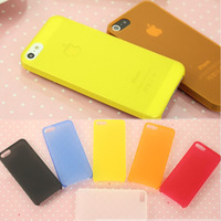 0.3mm Super Ultra Thin Slim Matte Frosted Transparent Clear Soft PP Cover Case Skin for iPhone 5 5G 5S Free Shipping 50pcs/lot