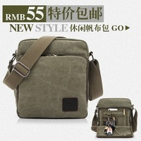 New Arrival Canvas bag man, hote sale men's small canvas shoulder bag  for documents, brand design high quality, portfolio men