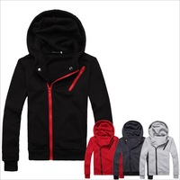 Spring/autunm/winter men's black/gray/red Hoodies thin overcoats male plus size sport sweatshirts M-XXXL hooded outwear