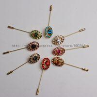 (120PCS Mixed colors/lot)Hijab Accessories Pins Crystal Scarf Pin Muslim Fashion Safety pin