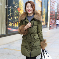 2013 winter white duck down coat down outerwear overcoat female thickening outerwear female