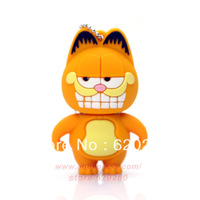 Freeshipping  Free shipping+Dropshipping  Cartoon Animal Novelty Garfield Cat USB Flash Drive 2g/4g/8g/16g/32g