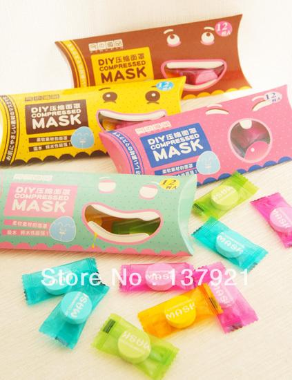 60PCS новой красоты сжатых маска лист