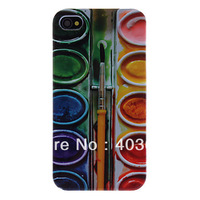 Free Shipping Paint Box Pattern Hard Case for iPhone 4/4S Wholesale