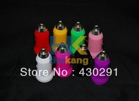 Free shipping New Micro USB Car Charger Colorful Mini Car Charger Adapter for Cell Mobile Phone iPhone 4 4S 5 iPad iPod MP3 MP4