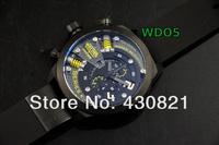 Free Shipping WELDERING K-24 Series Specail Men Watch, Stainless Steel Men's Men Wristwatches,Round shape, BLACK YELLOW.