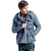 2013 winter men's clothing trend slim down coat male thin coat thickening down outerwear male