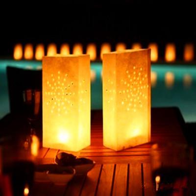 Free Shipping 10pcs white Sunburst&Heart Candle Bags Luminarie Lantern Wedding Party decorations(China (Mainland))