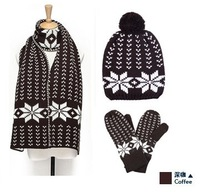 2013 DESIGN SCARF LIMITED Luxury Knitted Scarf 1180cm Winter Hat Gloves 3PC Winter SET Fashion Women Accessory BEST GIFT
