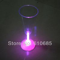 Free Shipping Fashion Colorful Flashing LED Light Champagne Cup Bar KTV Nightclub Wedding Special(2pcs/lot)