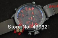 Designer WELDERING K-31 Series Functional Chronograph Men Watch, Stainless Steel Men Watch,Round shape, black.