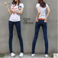 Free shipping 2013 New Arrivals Women Jeans and elastic slim skinny pants trousers women's denim pencil pants