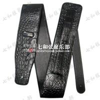 114-130CM length black high quality leather guitar suspender/electric guitar shoulder strap/electric bass strap