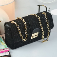 Free shipping fashion candy cute lock design chain women chain handbag/totes bag/shoulder bag WLHB696