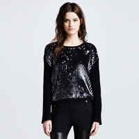 High quality sequin woolen scorpion style paragraph wool sweater m01525