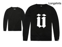 UNKUT Letter Sweatshirt /Women Men/Thin O-Neck Long sleeve/Big U/Autumn -Summer brand Clothing