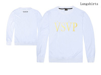 Thin O-Neck Long sleeve Sweatshirt /Women Men/Fashion design VSVP Letter graphics /Autumn brand T shirt