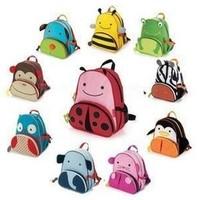 High Quality Cute Zoo Cartoon School Bags Mini Oxford Canvas Backpack Gift for Children Kids