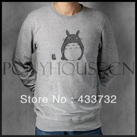 black and white CUTE TOTORO mens long-sleeve hoodies sweaters sweatshirt design printing