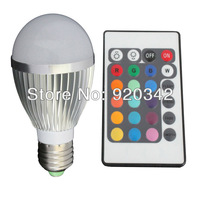 Free Shipping Remote Bulb LED RGB 16 Color Changed Lamp LED Spotlight 50000H Lifespan Warranty 3 Years High Bright RGB LED Bulbs