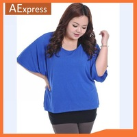 New Arrival Korean Fashion Women Casual T-shirt, Plus Size Half Sleeve Bat Shirt, XXL, XXXL, P-137