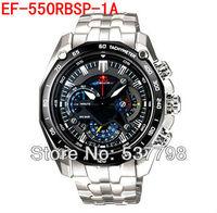 Original New Fashion Chronograph Tachymeter Watch 1/20 Second Stopwatch 550 EF-550 EF-550D 550RBSP EF-550RBSP EF-550RBSP-1AV
