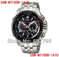 Original New Men Chronograph EQW-M710DB-1A1D Wave Ceptor Solar Controlled EQW-M710DB Watch EQW-M710DB-1A Men's Sports Watch