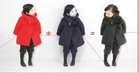 Korean Winter 1-5Year Baby Coat Thicken Leyo Warm Dot Girls Parkas Coat Kids Down Jacket Red And Dk Blue 90-130 QZ182