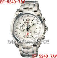 Original Brand New Fashion Men's Watch EF-524D-7AV Men Sport Chronograph Watch Stainless Steel Sport wristwatch EF-524D
