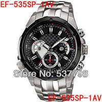 Original Brand New Men's EF-535SP-1AV EF-535D-7AV EF-535BK-1AV EF-535 Chronograph Sport Watch Gents Mens Wristwatch