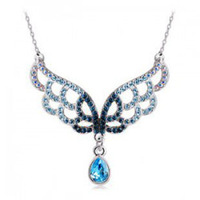 Crystal accessories necklace gorgeous elegant accessories pendant establisher b69 female