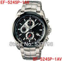 Original New Fashion Men's Watch 524 EF-524SP-1AV Men Sport Chronograph Watch Stainless Steel Sport wristwatch EF-524SP