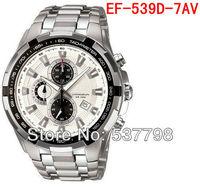 Original Brand New Fashion 539 EF-539D-7AV Men's Sport 539D Chronograph Watch EF-539D Stainless Steel Gents Wristwatch